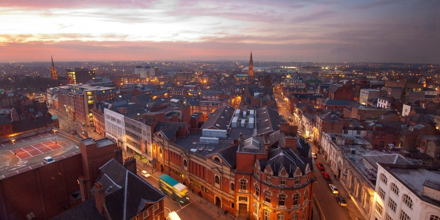 Leicester city centre skyline